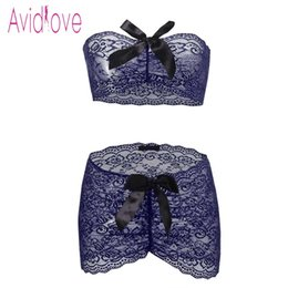 ca03edeab Avidlove Sexy Underwear Lingerie Set Women Wrap Strapless Top with Ruched  Mini Skirt Erotic Hot Sex Costume Porn Exotic Apparel