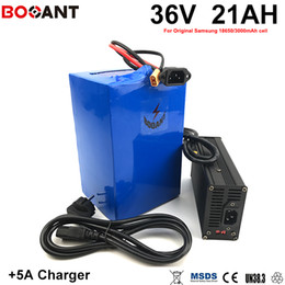 Motor Bicycles Australia - 1000W Bicycle Battery 36V 20AH For Bafang BBS Motor With 5A Charger Scooter Lithium Battery 36V For Original Samsung 18650 Cell