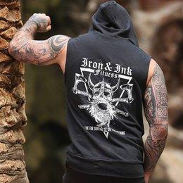 $enCountryForm.capitalKeyWord Australia - Autumn Jogger Gym Vest Men Running Sports Top Sleeveless Shirt Male Hooded Sweatshirt Fitness Cotton Men Bodybuilding Undershirt
