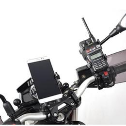 Aluminium-U-Bolt-Motorrad-Lenkerhalterung für Garmin GPS MAP 62 64 320-Serie für iPhone 8 7 6 5 Handy-Ram-Halterungen
