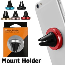 Smartphone car mountS online shopping - Magnetic Car Air Vent Car Smartphone Holder For IPhone Galaxy S8 Mount Holder In Retail Box