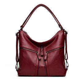 2018 New Big Women handbags Soft PU Leather Hobos Female Handbags Fashion  Shoulder Bags Ladies High Quality Design Bag 1cc438dfad8b5