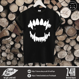 663d34e8fc34 Funny Gym Shirts NZ - Jaw Jaws Fangs T Shirt Horror Beast Vampire Hallowen  Gym Party