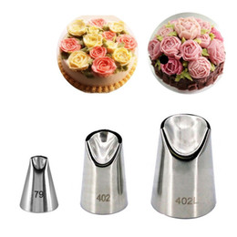 Kitchen Decorators Australia - Kitchen Baking Tools 3 Pieces set Stainless Steel Nozzles Pastry Cream Cakes Cookie Decorating Set