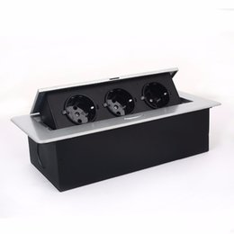 Power Socket Eu Australia - 3*EU power silver black ,Thin edge fillet panel   Thick edge right angle panel,for meeting room furniture socket