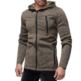 Cool Sweatshirt Jackets Australia - Casual Men Hoodies Sweatshirts Zipper Solid Color Plus Size Cool Men Hoodie 2018 Long Sleeve Jacket Tracksuit Sweatshirt Hoodies