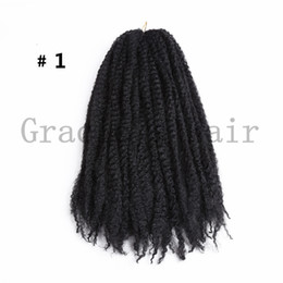 China afro kinky Marley Braids Hair Extension Synthetic Ombre Afro Kinky Crochet Kanekalon Braiding Hair Crochet Braids Bulk 18inch 30strands suppliers
