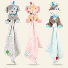 elephants baby 2018 - Baby rattles Baby toys Comforter Cute Cartoon Animal Soft Plush Rattle comfort towels dolls Multifunctional Baby Care ch