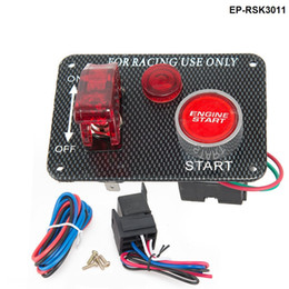 Wholesale new V Red LED Racing Car Engine Start Push Button Ignition Switch Panel Toggle Hot EP RSK3011