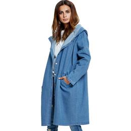 381864613bbfe 2018 plus size Vintage loose outwear women jacket casacos femininos Jeans  autumn and winter Big women coat denim jacket blusas