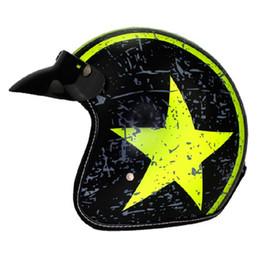 $enCountryForm.capitalKeyWord Australia - New retro Motorcycle helmet jet Vintage Open face 3 4 helmet casco moto e can put google glass