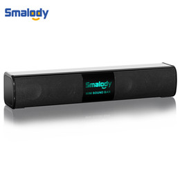 Discount powerful speakers - Smalody Wireless Bluetooth Portable Speaker Powerful 10W Bass Led Light Stereo Mini Soundbar Music USB Mini Speakers AUX