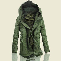 Wholesale si jackets for sale – winter Jacket and Coats Winter Men Warm Coats Fashion Men Jackets Downs Casual Men Thick Outwears Plus Size XL Classical Khaki Hooded Asian Si