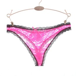 de41285ef57 Ixuejie New Super Sexy Lace Temptation ladies Thong Hollow Perspective Underwear  Women G String T-pants