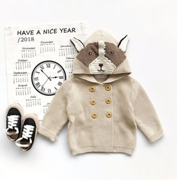 Cute Baby Girl Knitted Clothes Canada - Baby Girls Outerwear & Coats New 2018 Cute Cartoon Fox Cotton Knit Cardigan Kids Clothes Baby Boys Knitted Coat Boy Girl Clothes