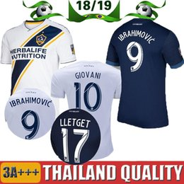 7319fe891 Zlatan Ibrahimovic Soccer Jersey La Galaxy Ibrahimovic MLS 2018 Football  Galaxy Jersey Giovani Los Angeles Jersey Camisetas Shirt Maillot