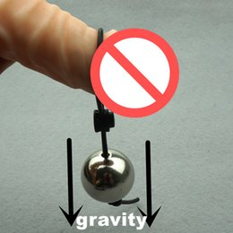Metal Ball Gravity Penis Stretcher Heavy Weight Hanger Penis Extender Ampliação Cock Ring Masculino Chastity Device Sex Toys para Homens