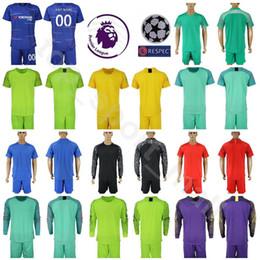 Discount army uniforms - Goalkeeper 2018 2019 Kepa Arrizabalaga 1 Petr Cech Jersey Soccer 13 Thibaut Courtois CABALLERO Football Sets Kit Men Lon