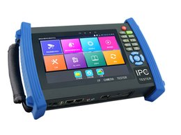 Cctv Wifi Ip Canada - 7 Inch H.265 4K IP CCTV Tester Monitor HD TVI AHD CVI Analog Cameras Tester 8MP 5MP 1080P HDMI In PTZ Cable Tracer ONVIF WIFI POE 12V2A