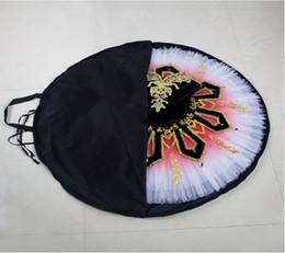 $enCountryForm.capitalKeyWord NZ - Free shipping Black Foldable Professional rose red Ballet Tutu Bag Light Weight Protective Ballet Tutu Bag Waterproof Black Tutu Bags