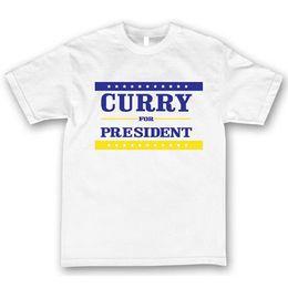 Curry Shirts NZ - STEPH CHEF CURRY FOR PRESIDENT T-SHIRT Men's TEE GS WARRIORS DUB NATION NEWTees Custom Jersey t shirt