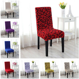 Printed Spandex Stretch Dining Chair Covers Restaurant Weddings Banquet Hotel Covering Protector Slipcover Decor QW877066
