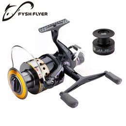 Carp Reels Bait Australia - Fishing Reel Carp Spinning Reel Carbon Front and Rear Drags 18KG Max Drag 9+1 BB Metal Spool Sea Boat Reel Double Knobs C18110601