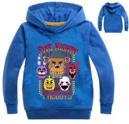 Chinese  2018 Autumn Five Nights at Freddys Sweatshirt For Boys 2-12 Year School Hoodies For Boys FNAF Costume For Teens Sport Clothes manufacturers