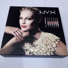 Full Lips Kit Canada - NYX Lip gloss kit 6 Colors Lingerie Liquid Lipstick nyx Luxury Velvet Matte Nude Lipsticks makeup lipgloss good quality