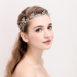 Gold Headbands NZ - Charming Opal Crystal Hair Vine Gold Silver Wedding Hair Accessories Bridal Headband Handmade Women Headbands Jewelry