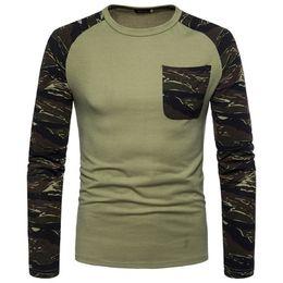 $enCountryForm.capitalKeyWord NZ - Raglan Design Men T shirts Long Sleeves Camouflage Summer Casual Homme Cotton Crew Neck Long Tees Clothes
