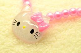 Children Set Ring Bracelet Australia - lovely CAT CHILDREN JEWELRY SET GIRL BEADS NECKLACE BRACELET ring jewelry SET New Baby Kids Gifts