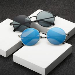 182416006c women eyeglasses circle frame 2019 - Men Women Round Metal Sunglasses UV400 Metal  Frame UV Protection