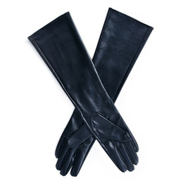$enCountryForm.capitalKeyWord NZ - Winter Women's Long Gloves Warm Lined Finger Gloves Lady Faux Leather Elbow