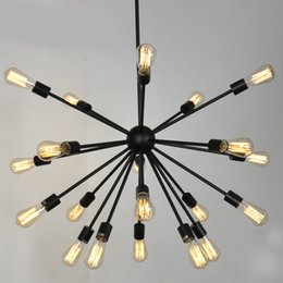 Satellite work online shopping - Modern wrought iron artificial satellite chandelier creative spider Lamps For living room dining room decor Bar G120