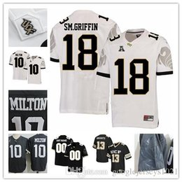 af09e7df1 Mens NCAA UCF Knights Jerseys  18 Shaquem Griffin  10 McKenzie Milton 5  Blake Bortles  6 Brandon Marshall Grey College Football Jersey S-3XL