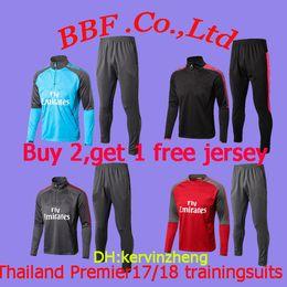 e73c50b23 TOP Thailand premier LeagueTrainingsuits 2017 2018 sports wear OZIL ALEXLS WILSHERE  KOLASINAC tacaksuit soccer jerseys 18 19 football shirts