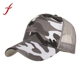 2090a712ad2 FEITONG Camouflage Baseball Caps 2018 Women Men Summer Cap Mesh Hats For Men  Women Casual Hats Hip Hop bone masculino