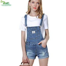 c622774f672 2018 New Denim Playsuits Women Washed Hole Denim Jumpsuit Romper For Women  Denim Coverall Playsuit Short Jeans Female ER186
