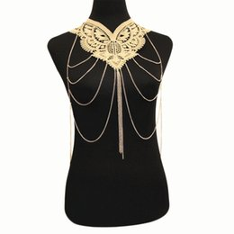$enCountryForm.capitalKeyWord UK - 2018 Europe and America hot sale jewelry gold lace fashion exaggerated necklace multi-layer tassel body chain kh-1931