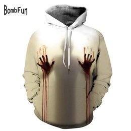 Blood Baby Hoodies Sweatshirts Men Women Halloween 3d Print Tops Jacket Jumper Tracksuit Pullover Blood Handprint Streetwear Men's Clothing