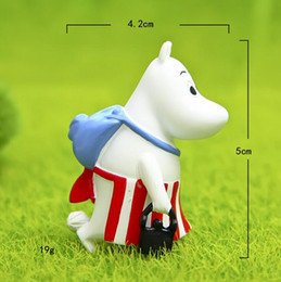 $enCountryForm.capitalKeyWord Australia - Resin Hippo Moomin Miniature Figurine Fairy Garden Decoration Figure Home Cake Ornaments Cartoon Statue Resin Craft Toy Tnj043