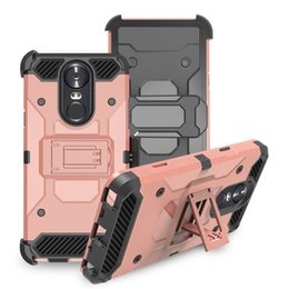 alcatel hard phone cases 2020 - Heavy Duty Armor Hard Case For LG Q7 plus Alcatel 7 Phone Case + Belt Clip Holster Kickstand TPU+PC Shockproof Oppbag 20