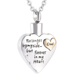 Ash jewelry online shopping - Stainless Steel New Arrival Memorial Ash Keepsake Urn Necklace For Dad Funeral Urn Casket Cremation Urn Necklaces Jewelry
