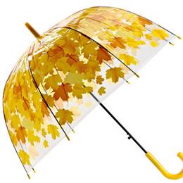 $enCountryForm.capitalKeyWord UK - Transparent Thicken PVC Mushroom Green Leaves Rain Clear Leaf Bubble Umbrella Household Sundries Umbrellas Home & Garden