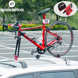 Wholesale ROCKBROS Bicycle Rack Bike Car Racks Carrier Quick release Alloy Fork Car Bike Block Alloy Mount For MTB Road Accessories