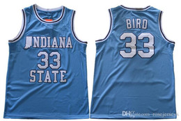Swingman baSketball jerSeyS online shopping - Indiana State Sycamores Bird Retro Blue Jersey ISU Men s White Larry Green Springs Valley Black Soul Swingman College Basketball Jerseys