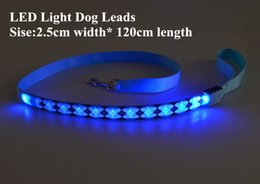 Basic Batteries online shopping - B07 Rhombus Pet dog LED leahses leads pet traction rope pull strap for dogs cats cm length battery and USB Rechargeable