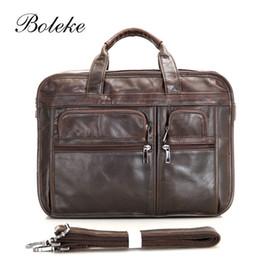 men leather handmade briefcase 2018 - Brnad Men Cowhide Genuine Leather  Messenger Shoulder Bags 15.6 inch 865b24e2f3a0b