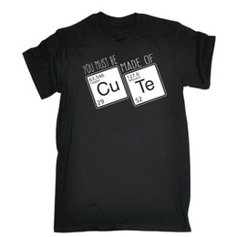Funny nerd shirts online shopping - Made Of Cute Periodic Table T SHIRT Science Geek Nerd Top Funny birthday gift